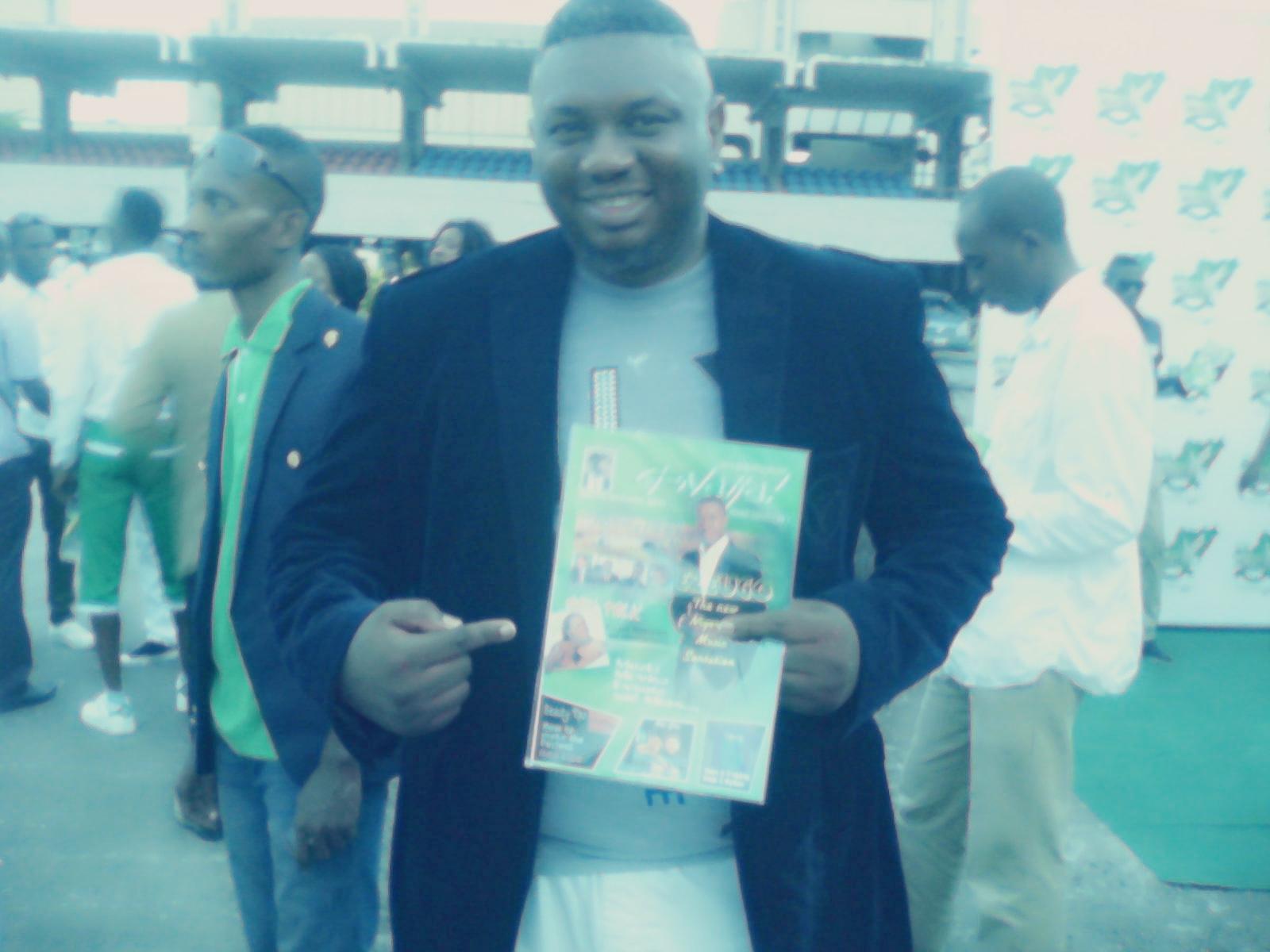 ObiShine [@shineobi] posing with G-Naija Mag