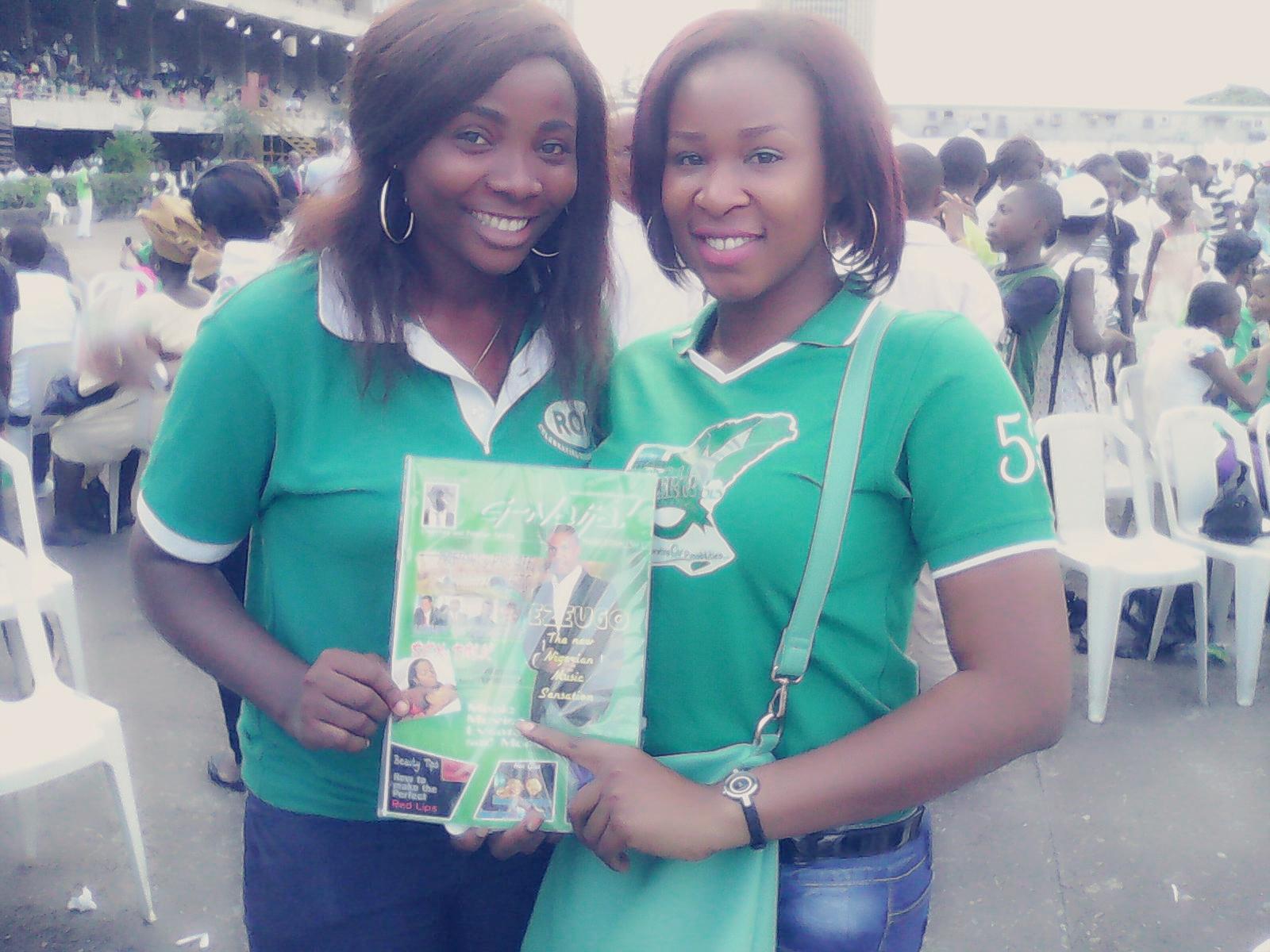 Fine Nigerian Christian Sisters posing with G-Naija Mag #1